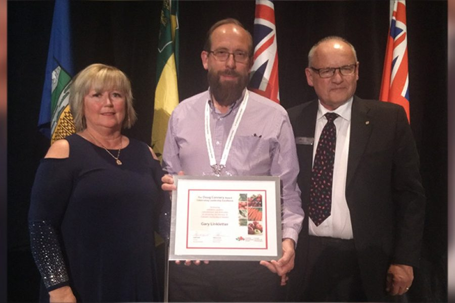Gary Linkletter receives 2017 Doug Connery Award for leadership excellence