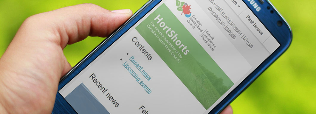 HortShorts displayed on a mobile phone