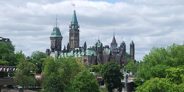 Parliament buildings in ottawa