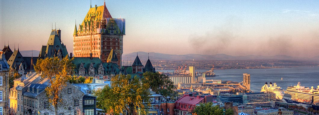 Quebec city skyline with Chateau Frontenac