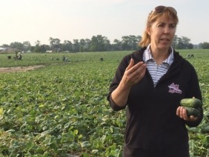 In the field with Miriam from Chary Produce