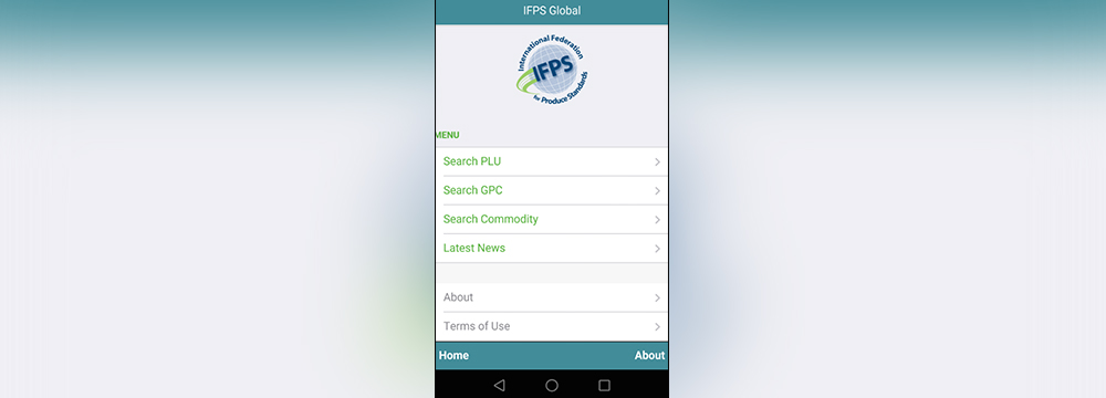 Screenshot of the Fresh PLU app