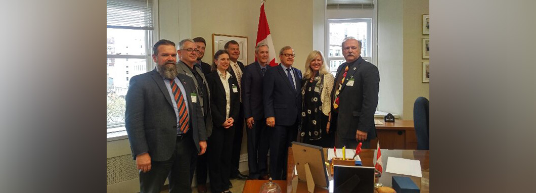 Members of the AgGrowth Coalition with Minister MacAulay.