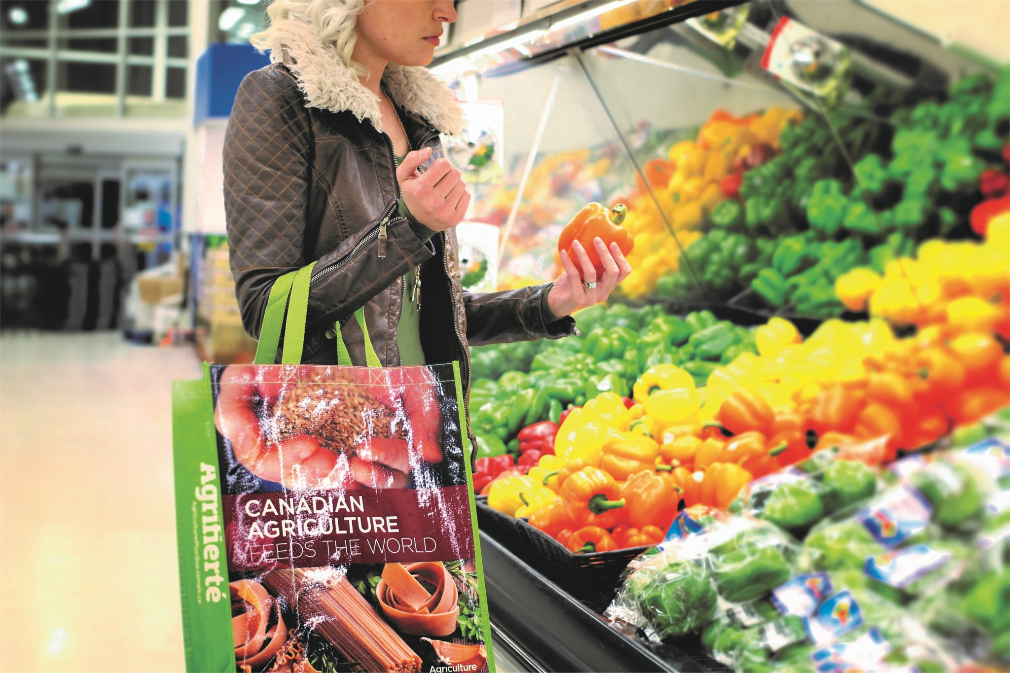 You can spread the word by using your Ag More Than Ever reusable shopping bag at the grocery store or farmers' market.
