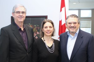 From left to right: Allen Kirkpatrick, Executive Director, CCCA; Rebecca Lee, Executive Director, CHC; David Andrews, Former Executive Director, CCCA