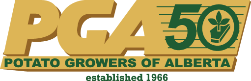 Potato Growers of Alberta 50th anniversary logo
