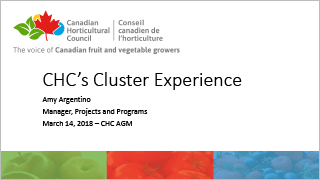 CHC - Cluster Experience