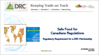 DRC - Safe Food for Canadians Regulations