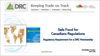 DRC - Safe Food for Canadians Regulations