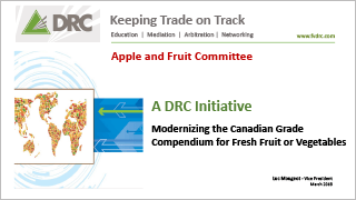DRC - Modernizing the Canadian Grade Compendium for Fresh Fruit or Vegetables