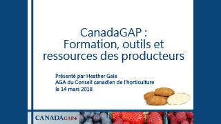 CanadaGAP - Formation, outils et ressources des producteurs