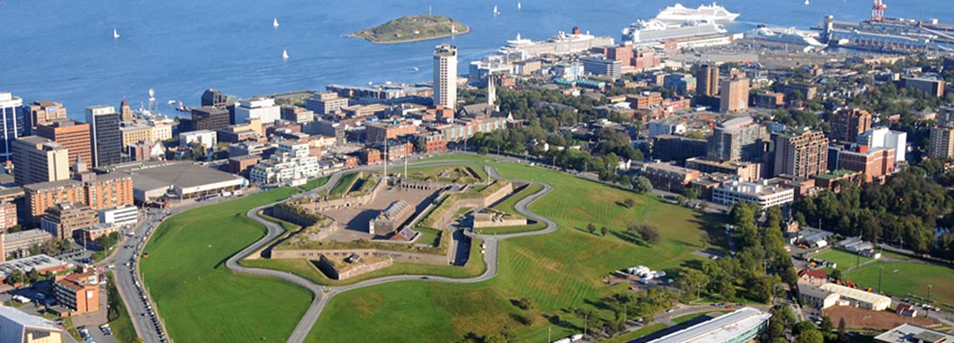 view of halifax from the air