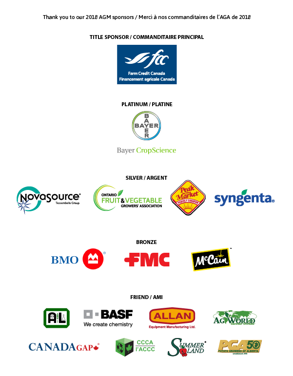 2018 AGM sponsors