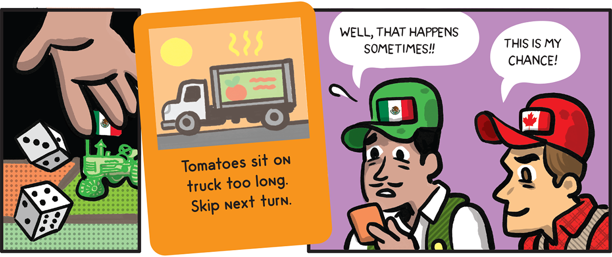 Tomatoes sit on truck too long.